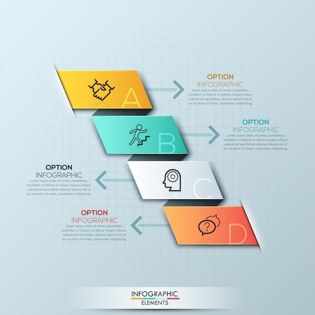 Opções de infográficos espiral moderna Vetor Premium