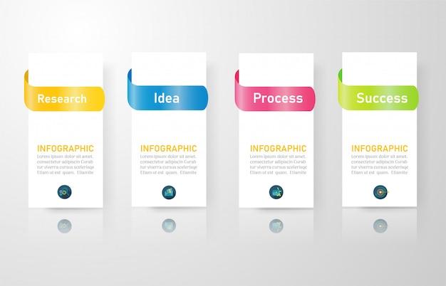 Opções de modelo de design de negócios infográfico elemento gráfico. Vetor Premium