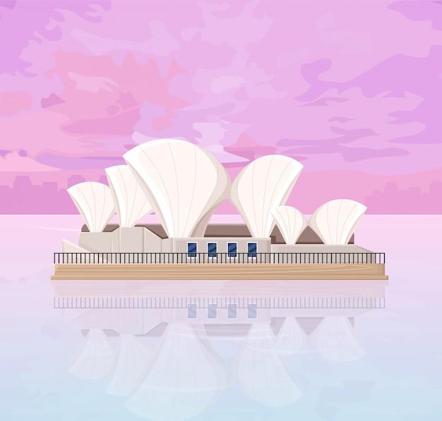 Ópera de melbourne na austrália Vetor Premium