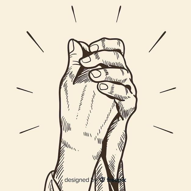 Orando mãos fundo Vetor grátis