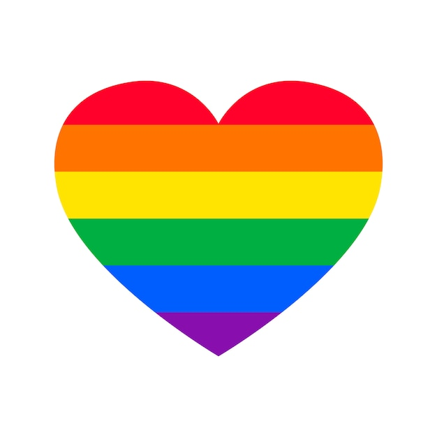 Orgulho gay plana em forma de coração Vetor grátis