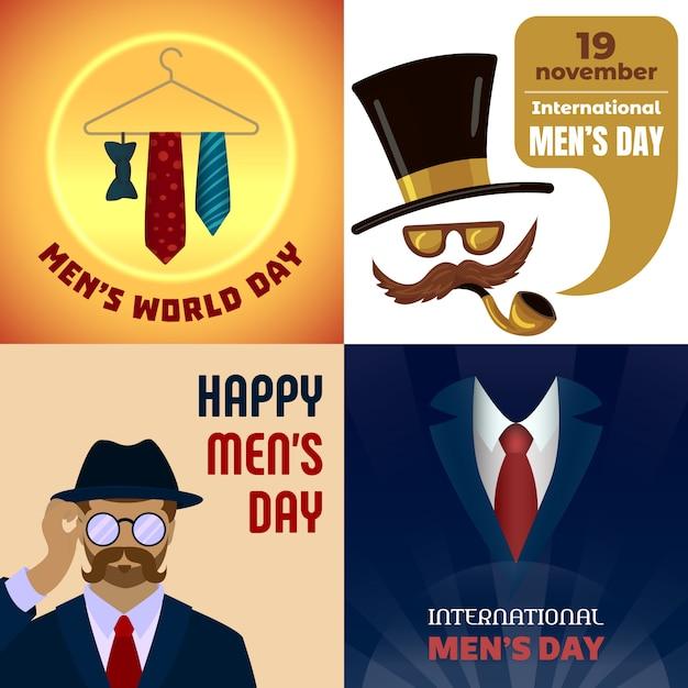 Origens do dia dos homens Vetor Premium