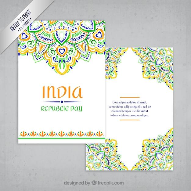 Ornamental índia cartão Vetor grátis