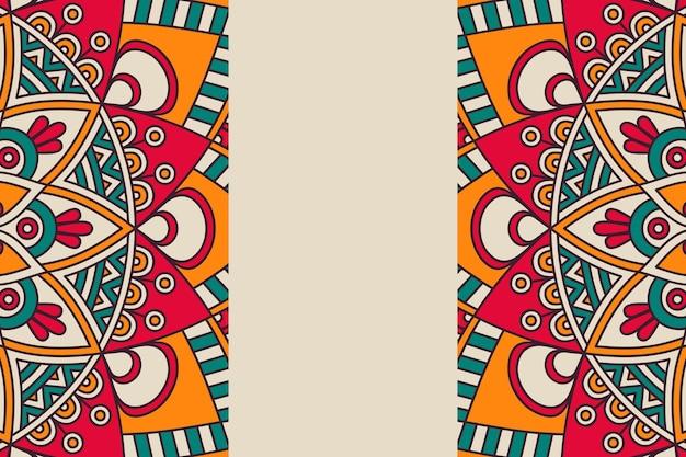 Ornamento de fundo bonito elemento de círculo geométrico feito em vetor Vetor grátis