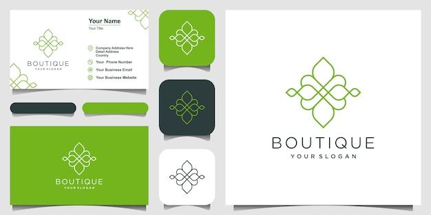 Ornamento de luxo e cartão de visita Vetor Premium