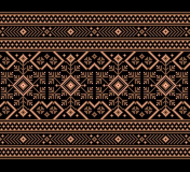 Ornamento de padrão sem emenda folk ucraniano Vetor grátis