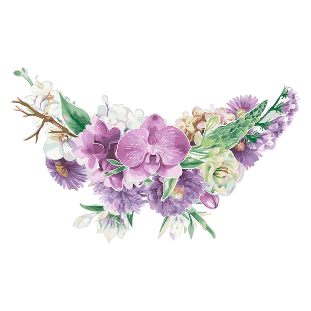 Ornamentos florais vintage Vetor grátis