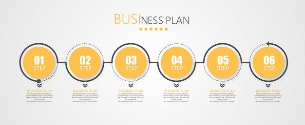 Os diagramas de negócios e educacionais do infográfico seguem as etapas usadas para apresentar a apresentação junto com o estudo. Vetor Premium