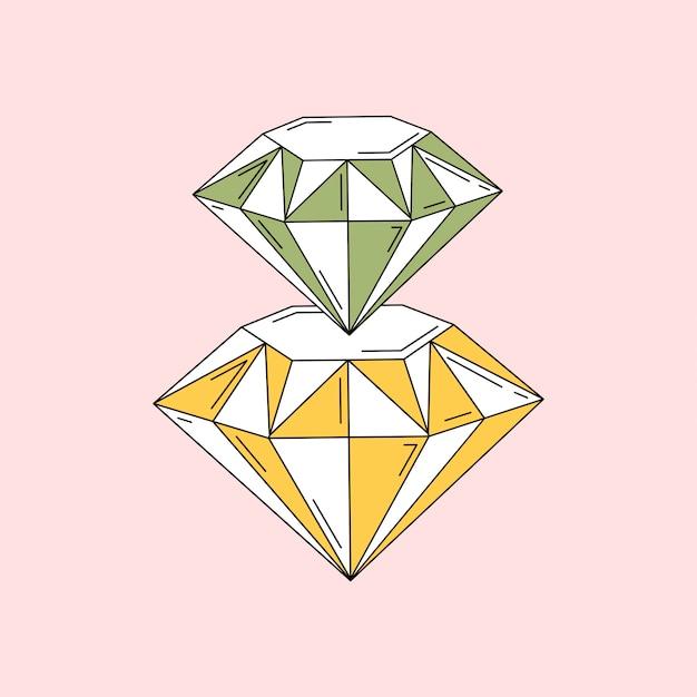 Os diamantes são um vetor de melhor amigo de meninas Vetor grátis