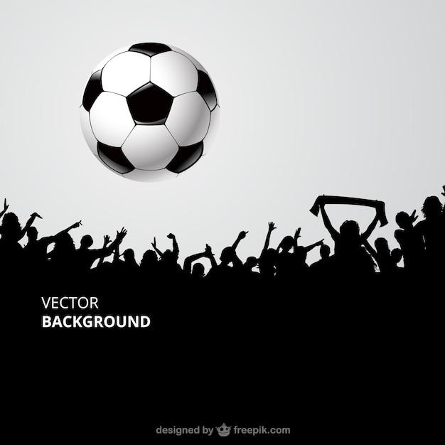 Os fãs de futebol multidão Vetor grátis