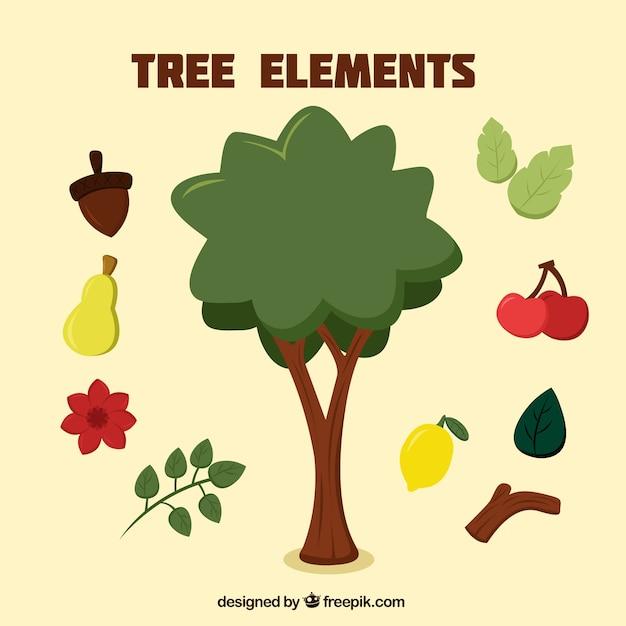 Os frutos da árvore Vetor grátis