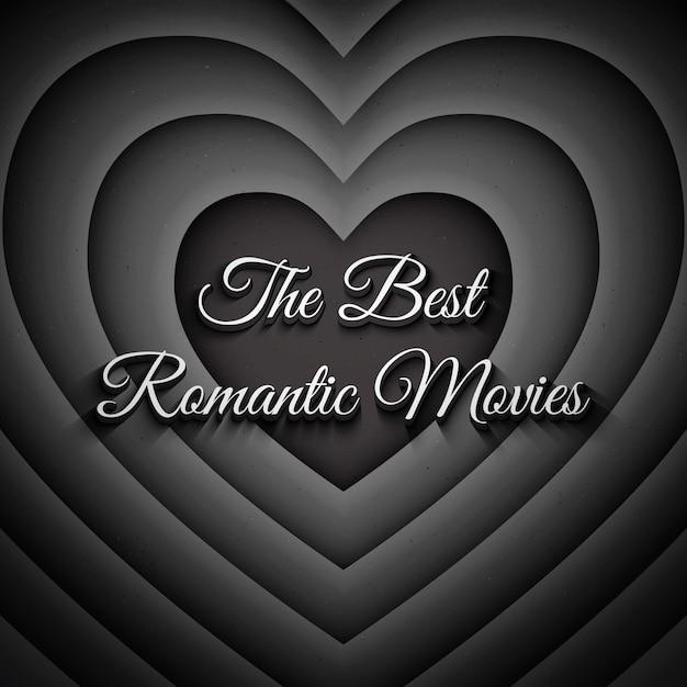 Os melhores filmes românticos vintage background Vetor Premium