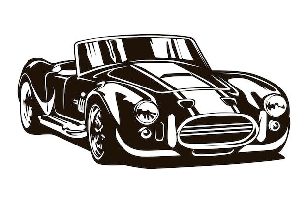 Os muscle cars antigos inspiraram o desenho dos desenhos animados. Vetor Premium