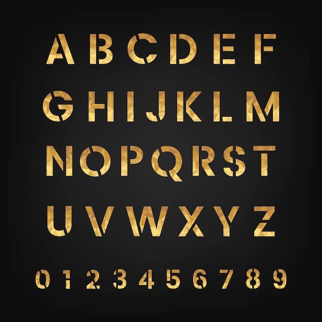 Os vetores do alfabeto e do sistema numeral Vetor grátis