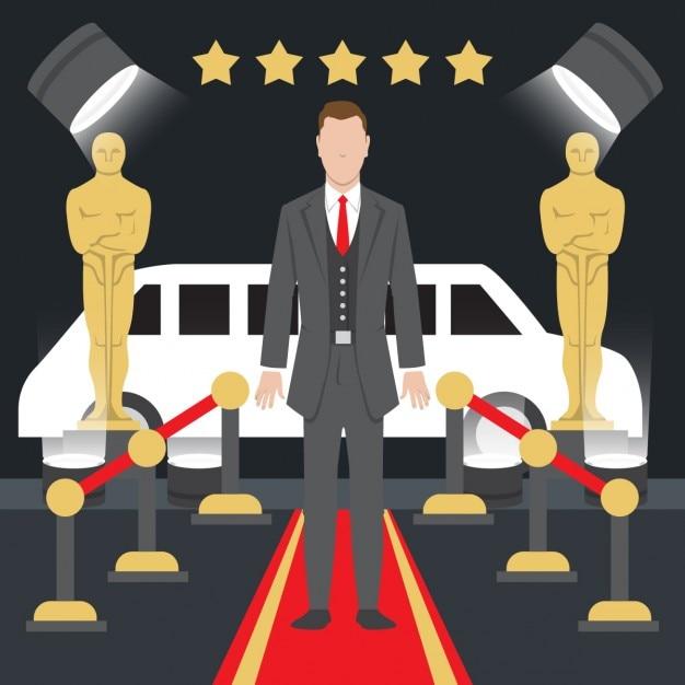 Oscar prêmios ilustração Vetor grátis