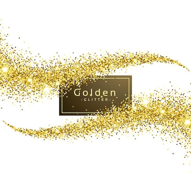 Ouro, brilho, onda, fundo, vetorial Vetor grátis