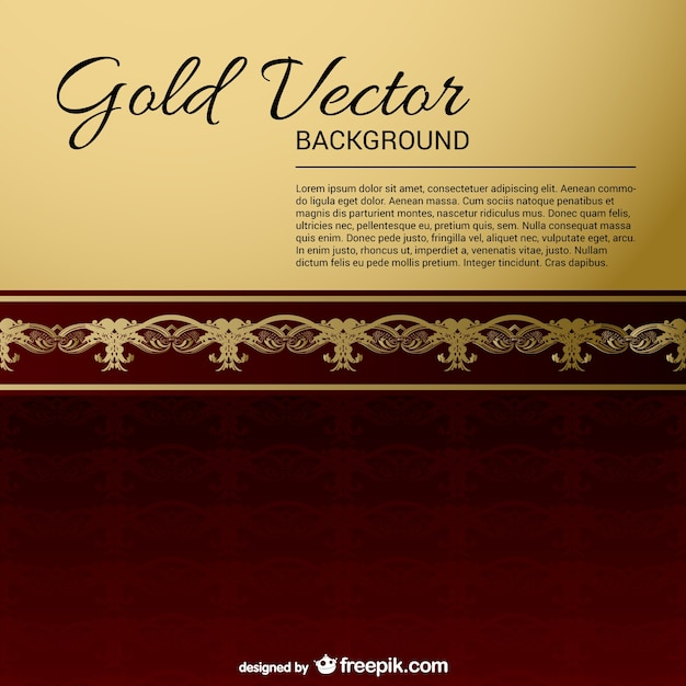 Ouro preto vintage fundos Vetor grátis