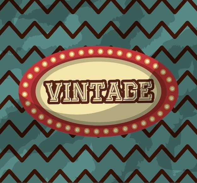 Outdoor retro vintage luzes de fundo clássico Vetor Premium