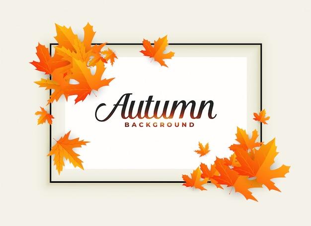 Outono bonito fundo com espaço de texto Vetor grátis