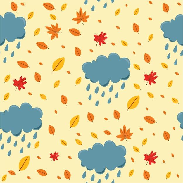 Outono padrão Vetor grátis