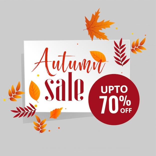 Outono venda fundo com folhas Vetor grátis