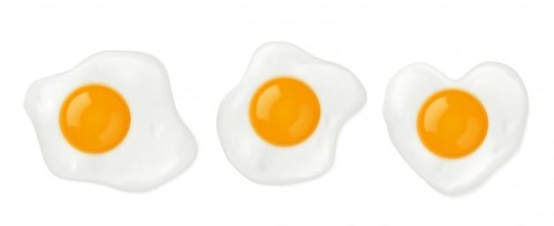 Ovos fritos em formato de coração Vetor grátis