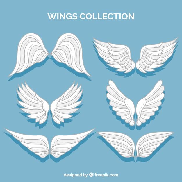 Pacote de asas desenhadas à mão Vetor grátis