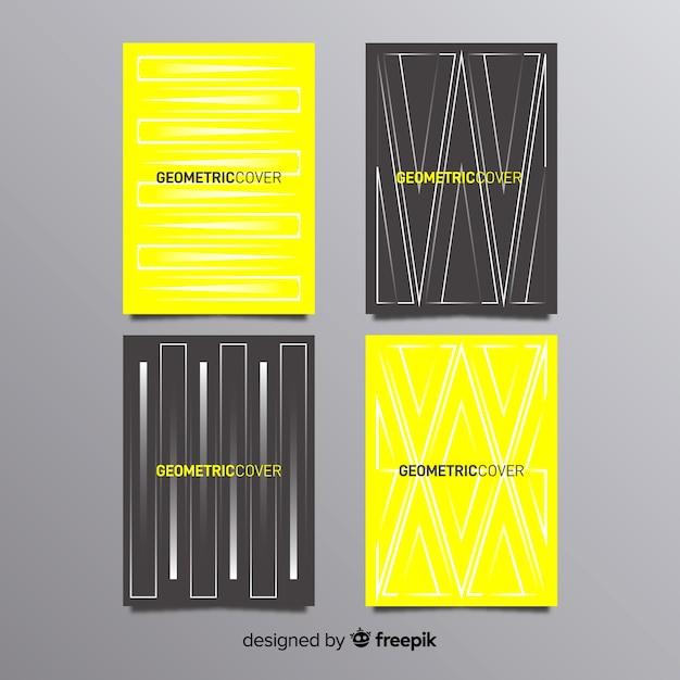 Pacote de brochura de linhas geométricas Vetor grátis