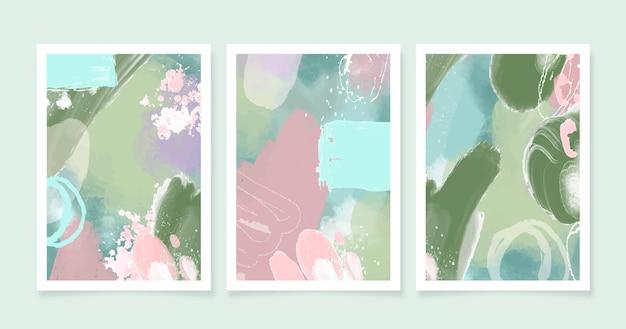 Pacote de capas abstratas em aquarela Vetor grátis