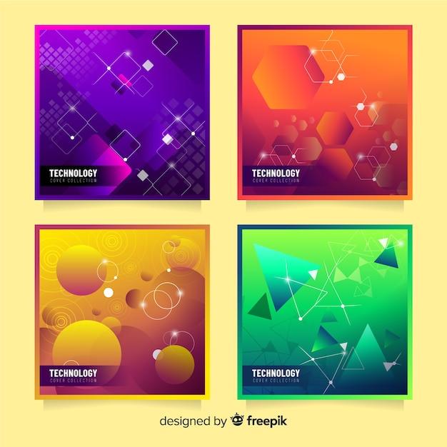Pacote de cobertura de formas 3d coloridas Vetor grátis