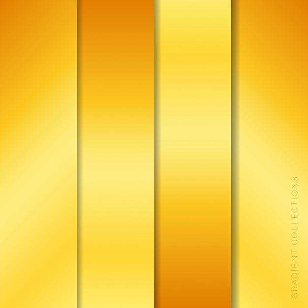 Pacote de coleções de gradientes metálicos Vetor Premium