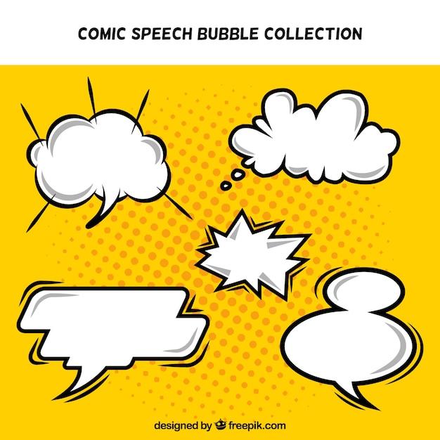 Pacote de cómica do discurso bolhas Vetor grátis