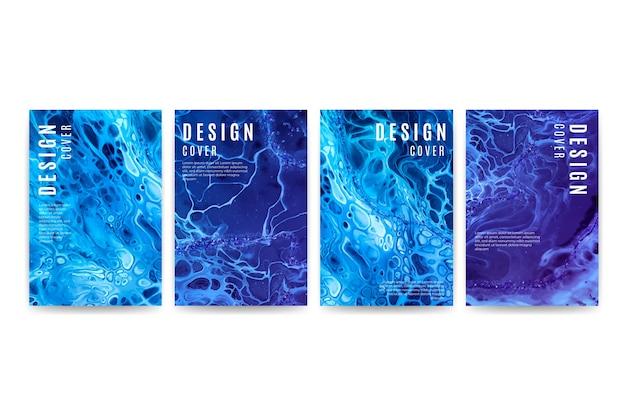 Pacote de diferentes designs de capa Vetor grátis