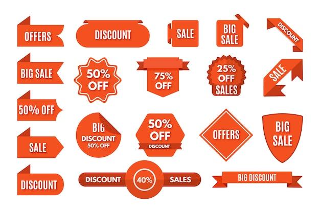 Pacote de etiqueta de promoção de vendas minimalista Vetor grátis