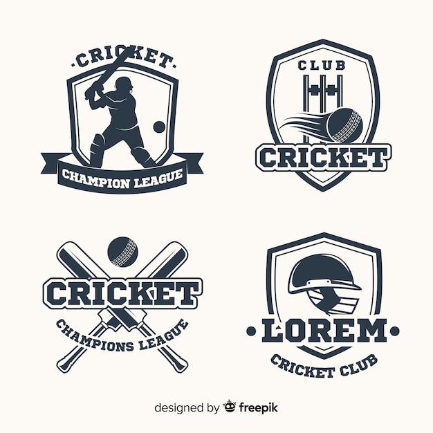 Pacote de etiquetas de críquete Vetor grátis
