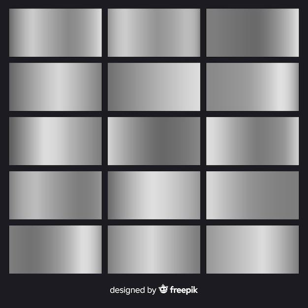 Pacote de gradiente de prata Vetor grátis