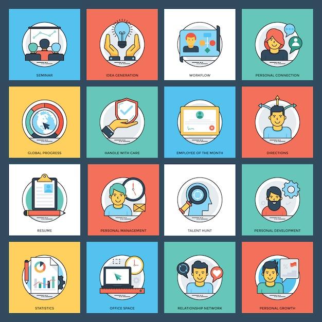 Pacote de ícones criativos de negócios Vetor Premium