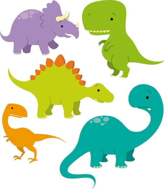 Pacote De Imagem De Vetor De Dinossauro
