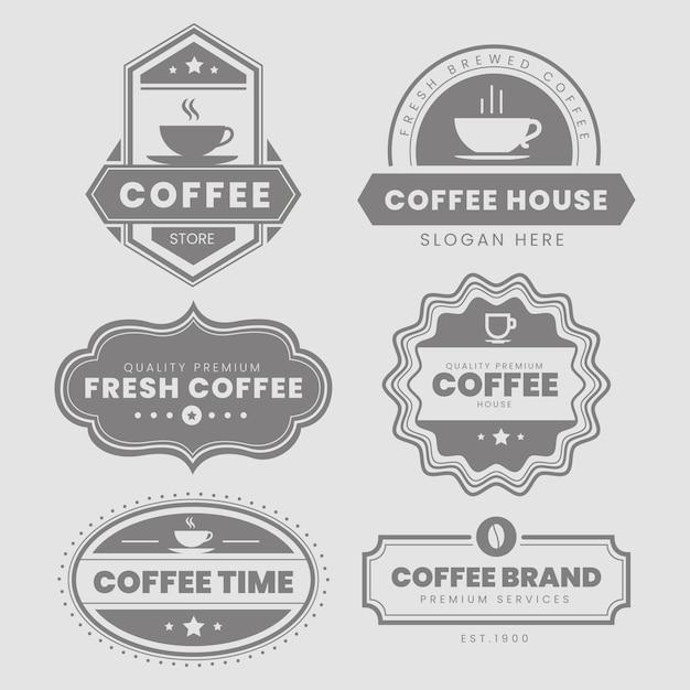 Pacote de logotipo vintage de café Vetor grátis