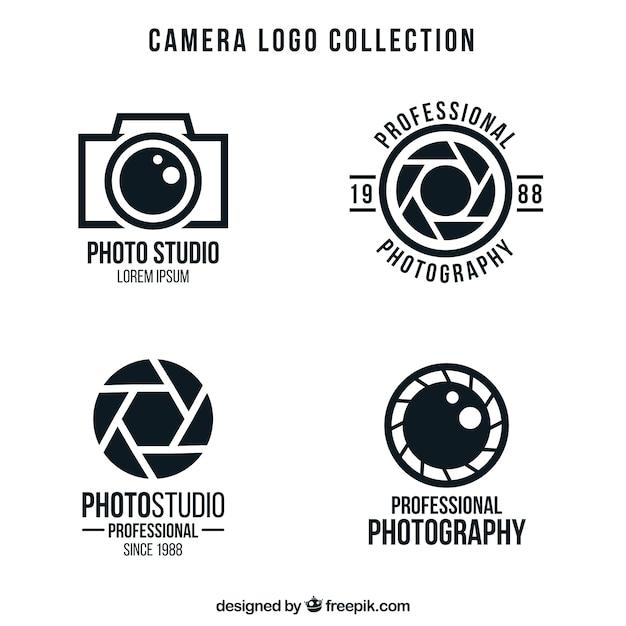 Pacote de logotipos da câmera Vetor grátis