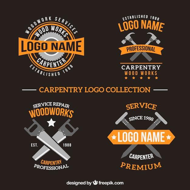 Pacote De Logotipos De Carpintaria Baixar Vetores Gr 225 Tis