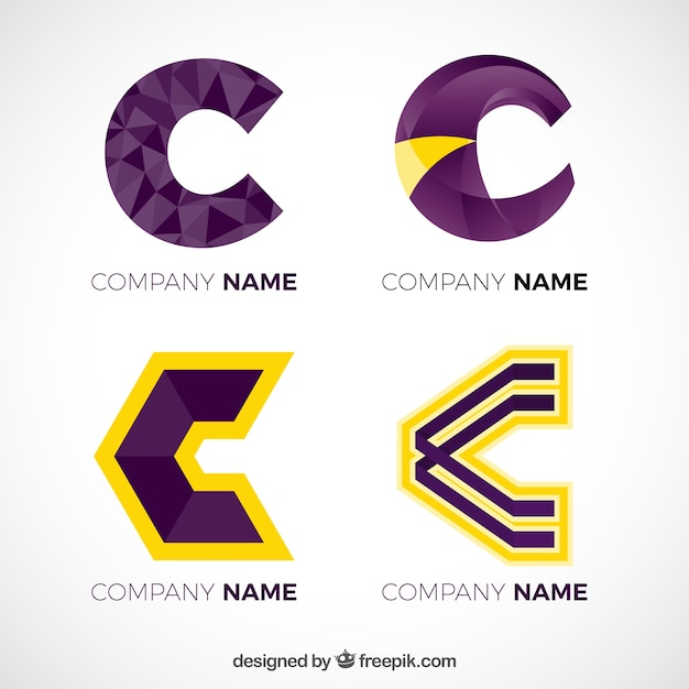 Pacote de logotipos de letras