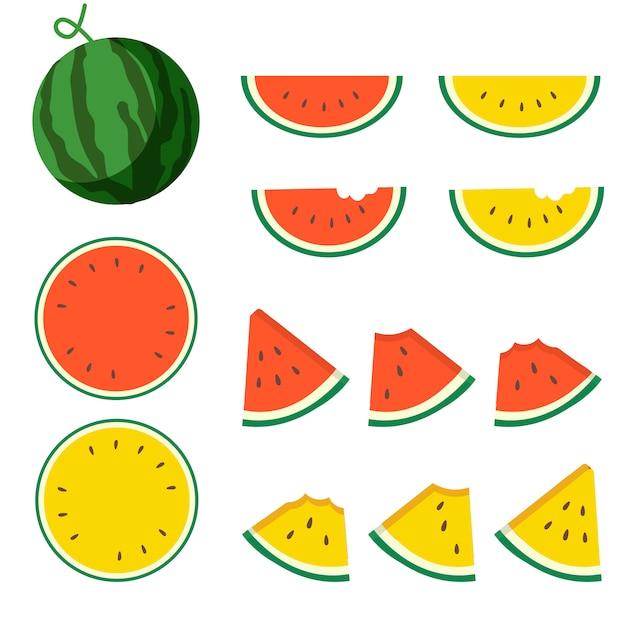 Pacote de melancia. Vetor Premium