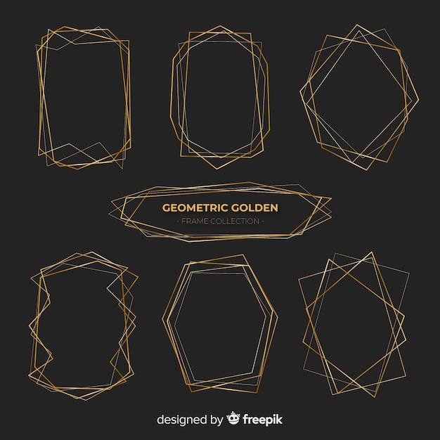 Pacote de molduras douradas brilhantes Vetor grátis