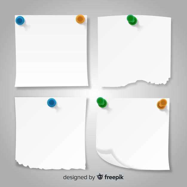 Pacote de notas em estilo detalhado Vetor grátis