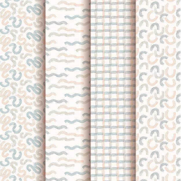 Pacote de padrão de design de mão desenhada Vetor grátis