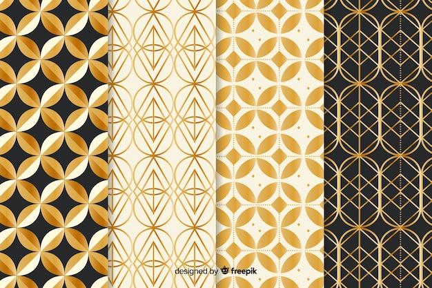 Pacote de padrão geométrico de luxo Vetor grátis