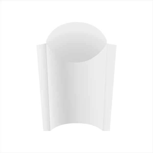 Pacote de papel de batata frita Vetor Premium