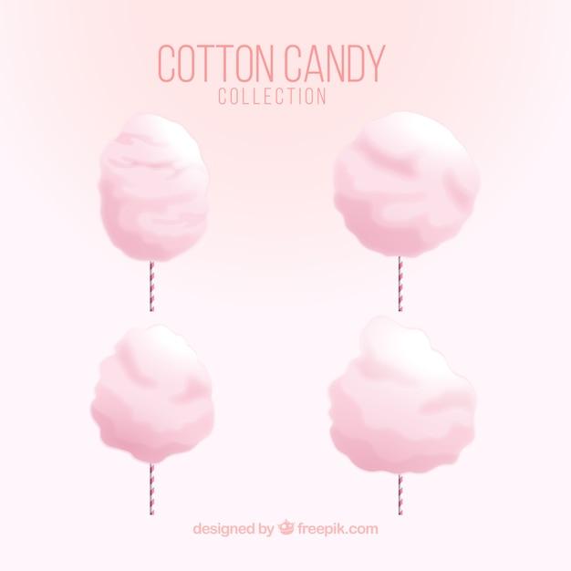 Pacote de quatro doces de algodão rosa Vetor grátis