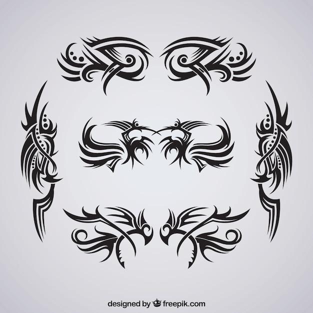Pacote de tatuagens tribais Vetor grátis